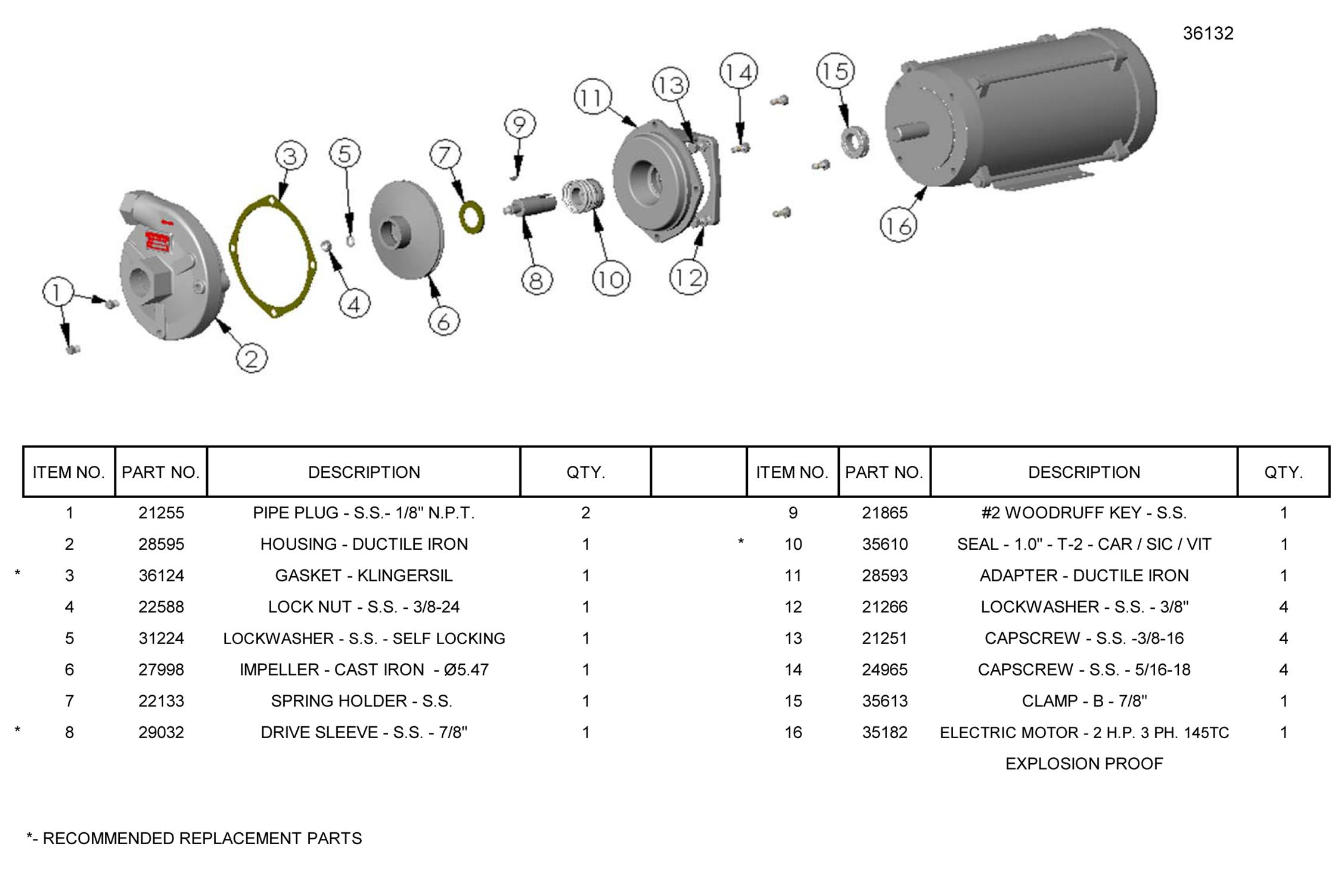 partes pump mp 60